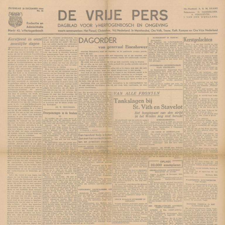 De Krant van 23 december 1944